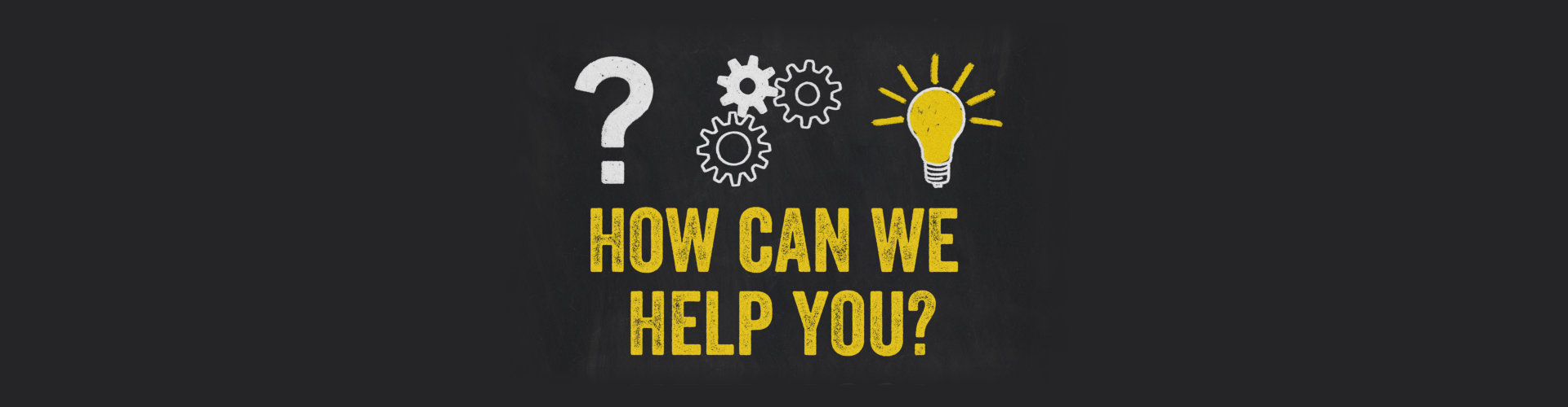 Question Mark, Gears, Light Bulb Concept - How can we help you